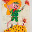 Camilo Restrepo. <em>Ferley Gonzàlez</em>, 2021. Water-soluble wax pastel, ink, tape and saliva on paper 11 3/4 x 8 1/4 inches (29.8 x 21 cm) thumbnail
