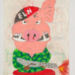 Camilo Restrepo. <em>Carlos Puerco</em>, 2021. Water-soluble wax pastel, ink, tape and saliva on paper 11 3/4 x 8 1/4 inches (29.8 x 21 cm) thumbnail
