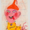 Camilo Restrepo. <em>Loco Frank</em>, 2021. Water-soluble wax pastel, ink, tape and saliva on paper 11 3/4 x 8 1/4 inches (29.8 x 21 cm) thumbnail