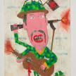 Camilo Restrepo. <em>Juliàn Conrado</em>, 2021. Water-soluble wax pastel, ink, tape and saliva on paper 11 3/4 x 8 1/4 inches (29.8 x 21 cm) thumbnail