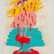 Camilo Restrepo. <em>Concha</em>, 2021. Water-soluble wax pastel, ink, tape and saliva on paper 11 3/4 x 8 1/4 inches (29.8 x 21 cm) thumbnail