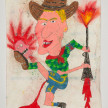 Camilo Restrepo. <em>Martìn Llanos</em>, 2021. Water-soluble wax pastel, ink, tape and saliva on paper 11 3/4 x 8 1/4 inches (29.8 x 21 cm) thumbnail