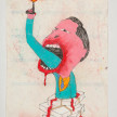 Camilo Restrepo. <em>Eliècer</em>, 2021. Water-soluble wax pastel, ink, tape and saliva on paper 11 3/4 x 8 1/4 inches (29.8 x 21 cm) thumbnail