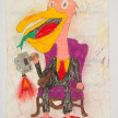 Camilo Restrepo. <em>Peli</em>, 2021. Water-soluble wax pastel, ink, tape and saliva on paper 11 3/4 x 8 1/4 inches (29.8 x 21 cm) thumbnail
