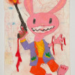 Camilo Restrepo. <em>Max Cross</em>, 2021. Water-soluble wax pastel, ink, tape and saliva on paper 11 3/4 x 8 1/4 inches (29.8 x 21 cm) thumbnail