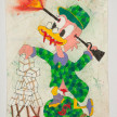 Camilo Restrepo. <em>Tìo</em>, 2021. Water-soluble wax pastel, ink, tape and saliva on paper 11 3/4 x 8 1/4 inches (29.8 x 21 cm) thumbnail