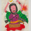 Camilo Restrepo. <em>Moisès</em>, 2021. Water-soluble wax pastel, ink, tape and saliva on paper 11 3/4 x 8 1/4 inches (29.8 x 21 cm) thumbnail