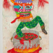 Camilo Restrepo. <em>Chonta</em>, 2021. Water-soluble wax pastel, ink, tape and saliva on paper 11 3/4 x 8 1/4 inches (29.8 x 21 cm) thumbnail