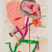 Camilo Restrepo. <em>Carlos Lozada</em>, 2021. Water-soluble wax pastel, ink, tape and saliva on paper 11 3/4 x 8 1/4 inches (29.8 x 21 cm) thumbnail