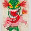 Camilo Restrepo. <em>Josè Marbel Zamora</em>, 2021. Water-soluble wax pastel, ink, tape and saliva on paper 11 3/4 x 8 1/4 inches (29.8 x 21 cm) thumbnail