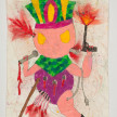 Camilo Restrepo. <em>Chayàn</em>, 2021. Water-soluble wax pastel, ink, tape and saliva on paper 11 3/4 x 8 1/4 inches (29.8 x 21 cm) thumbnail