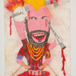 Camilo Restrepo. <em>Negro Mario</em>, 2021. Water-soluble wax pastel, ink, tape and saliva on paper 11 3/4 x 8 1/4 inches (29.8 x 21 cm) thumbnail