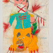 Camilo Restrepo. <em>Roque</em>, 2021. Water-soluble wax pastel, ink, tape and saliva on paper 11 3/4 x 8 1/4 inches (29.8 x 21 cm) thumbnail
