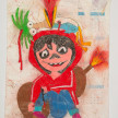 Camilo Restrepo. <em>Coco</em>, 2021. Water-soluble wax pastel, ink, tape and saliva on paper 11 3/4 x 8 1/4 inches (29.8 x 21 cm) thumbnail