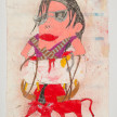 Camilo Restrepo. <em>Michael</em>, 2021. Water-soluble wax pastel, ink, tape and saliva on paper 11 3/4 x 8 1/4 inches (29.8 x 21 cm) thumbnail