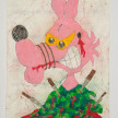 Camilo Restrepo. <em>Alberto</em>, 2021. Water-soluble wax pastel, ink, tape and saliva on paper 11 3/4 x 8 1/4 inches (29.8 x 21 cm) thumbnail