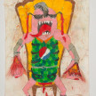 Camilo Restrepo. <em>Jhonier</em>, 2021. Water-soluble wax pastel, ink, tape and saliva on paper 11 3/4 x 8 1/4 inches (29.8 x 21 cm) thumbnail
