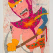 Camilo Restrepo. <em>Tànatos</em>, 2021. Water-soluble wax pastel, ink, tape and saliva on paper 11 3/4 x 8 1/4 inches (29.8 x 21 cm) thumbnail