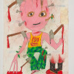 Camilo Restrepo. <em>Albeiro Suàrez</em>, 2021. Water-soluble wax pastel, ink, tape and saliva on paper 11 3/4 x 8 1/4 inches (29.8 x 21 cm) thumbnail