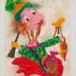 Camilo Restrepo. <em>Grillo</em>, 2021. Water-soluble wax pastel, ink, tape and saliva on paper 11 3/4 x 8 1/4 inches (29.8 x 21 cm) thumbnail