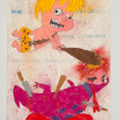 Camilo Restrepo. <em>Bam Bam</em>, 2021. Water-soluble wax pastel, ink, tape and saliva on paper 11 3/4 x 8 1/4 inches (29.8 x 21 cm) thumbnail