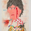 Camilo Restrepo. <em>Lucho</em>, 2021. Water-soluble wax pastel, ink, tape and saliva on paper 11 3/4 x 8 1/4 inches (29.8 x 21 cm) thumbnail