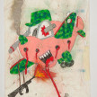 Camilo Restrepo. <em>Pedro</em>, 2021. Water-soluble wax pastel, ink, tape and saliva on paper 11 3/4 x 8 1/4 inches (29.8 x 21 cm) thumbnail