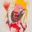 Camilo Restrepo. <em>Osama</em>, 2021. Water-soluble wax pastel, ink, tape and saliva on paper 11 3/4 x 8 1/4 inches (29.8 x 21 cm) thumbnail
