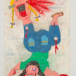 Camilo Restrepo. <em>Gordas</em>, 2021. Water-soluble wax pastel, ink, tape and saliva on paper 11 3/4 x 8 1/4 inches (29.8 x 21 cm) thumbnail