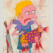 Camilo Restrepo. <em>Moe</em>, 2021. Water-soluble wax pastel, ink, tape and saliva on paper 11 3/4 x 8 1/4 inches (29.8 x 21 cm) thumbnail