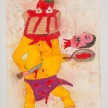 Camilo Restrepo. <em>Panqueque</em>, 2021. Water-soluble wax pastel, ink, tape and saliva on paper 11 3/4 x 8 1/4 inches (29.8 x 21 cm) thumbnail
