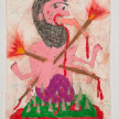 Camilo Restrepo. <em>Baba</em>, 2021. Water-soluble wax pastel, ink, tape and saliva on paper 11 3/4 x 8 1/4 inches (29.8 x 21 cm) thumbnail