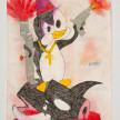 Camilo Restrepo. <em>Willy Meleàn</em>, 2021. Water-soluble wax pastel, ink, tape and saliva on paper 11 3/4 x 8 1/4 inches (29.8 x 21 cm) thumbnail