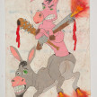 Camilo Restrepo. <em>Burro</em>, 2021. Water-soluble wax pastel, ink, tape and saliva on paper 11 3/4 x 8 1/4 inches (29.8 x 21 cm) thumbnail
