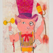 Camilo Restrepo. <em>Ilustre</em>, 2021. Water-soluble wax pastel, ink, tape and saliva on paper 11 3/4 x 8 1/4 inches (29.8 x 21 cm) thumbnail