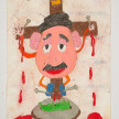 Camilo Restrepo. <em>Señor</em>, 2021. Water-soluble wax pastel, ink, tape and saliva on paper 11 3/4 x 8 1/4 inches (29.8 x 21 cm) thumbnail