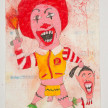 Camilo Restrepo. <em>Indio Ronal</em>, 2021. Water-soluble wax pastel, ink, tape and saliva on paper 11 3/4 x 8 1/4 inches (29.8 x 21 cm) thumbnail