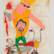 Camilo Restrepo. <em>John</em>, 2021. Water-soluble wax pastel, ink, tape and saliva on paper 11 3/4 x 8 1/4 inches (29.8 x 21 cm) thumbnail