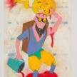 Camilo Restrepo. <em>Maracuyà</em>, 2021. Water-soluble wax pastel, ink, tape and saliva on paper 11 3/4 x 8 1/4 inches (29.8 x 21 cm) thumbnail