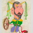 Camilo Restrepo. <em>Zar de los Textiles</em>, 2021. Water-soluble wax pastel, ink, tape and saliva on paper 11 3/4 x 8 1/4 inches (29.8 x 21 cm) thumbnail