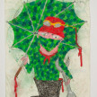 Camilo Restrepo. <em>Chave</em>, 2021. Water-soluble wax pastel, ink, tape and saliva on paper 11 3/4 x 8 1/4 inches (29.8 x 21 cm) thumbnail