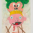 Camilo Restrepo. <em>Lucho el Orejòn</em>, 2021. Water-soluble wax pastel, ink, tape and saliva on paper 11 3/4 x 8 1/4 inches (29.8 x 21 cm) thumbnail