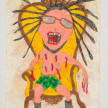 Camilo Restrepo. <em>Matamba</em>, 2021. Water-soluble wax pastel, ink, tape and saliva on paper 11 3/4 x 8 1/4 inches (29.8 x 21 cm) thumbnail