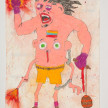 Camilo Restrepo. <em>Valero</em>, 2021. Water-soluble wax pastel, ink, tape and saliva on paper 11 3/4 x 8 1/4 inches (29.8 x 21 cm) thumbnail