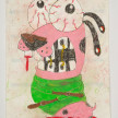 Camilo Restrepo. <em>Perra Loca</em>, 2021. Water-soluble wax pastel, ink, tape and saliva on paper 11 3/4 x 8 1/4 inches (29.8 x 21 cm) thumbnail