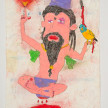 Camilo Restrepo. <em>Guru</em>, 2021. Water-soluble wax pastel, ink, tape and saliva on paper 11 3/4 x 8 1/4 inches (29.8 x 21 cm) thumbnail