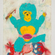 Camilo Restrepo. <em>Lucha</em>, 2021. Water-soluble wax pastel, ink, tape and saliva on paper 11 3/4 x 8 1/4 inches (29.8 x 21 cm) thumbnail