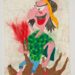 Camilo Restrepo. <em>Indio Amansador</em>, 2021. Water-soluble wax pastel, ink, tape and saliva on paper 11 3/4 x 8 1/4 inches (29.8 x 21 cm) thumbnail