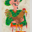 Camilo Restrepo. <em>Gallero</em>, 2021. Water-soluble wax pastel, ink, tape and saliva on paper 11 3/4 x 8 1/4 inches (29.8 x 21 cm) thumbnail