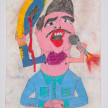 Camilo Restrepo. <em>Vicente</em>, 2021. Water-soluble wax pastel, ink, tape and saliva on paper 11 3/4 x 8 1/4 inches (29.8 x 21 cm) thumbnail